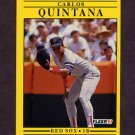 1991 Fleer Baseball #108 Carlos Quintana - Boston Red Sox
