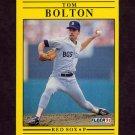 1991 Fleer Baseball #087 Tom Bolton - Boston Red Sox