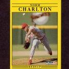 1991 Fleer Baseball #060 Norm Charlton - Cincinnati Reds