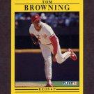 1991 Fleer Baseball #059 Tom Browning - Cincinnati Reds