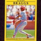 1991 Fleer Baseball #057 Glenn Braggs - Cincinnati Reds