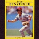 1991 Fleer Baseball #056 Todd Benzinger - Cincinnati Reds