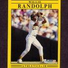 1991 Fleer Baseball #022 Willie Randolph - Oakland A's