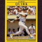 1991 Fleer Baseball #021 Jamie Quirk - Oakland A's