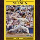 1991 Fleer Baseball #019 Gene Nelson - Oakland A's