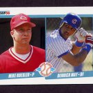 1990 Fleer Baseball #645 Mike Roesler RC / Derrick May