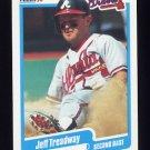 1990 Fleer Baseball #598 Jeff Treadway - Atlanta Braves
