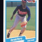 1990 Fleer Baseball #592 Gerald Perry - Atlanta Braves ExMt