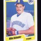 1990 Fleer Baseball #525 Mike Schooler - Seattle Mariners