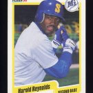 1990 Fleer Baseball #524 Harold Reynolds - Seattle Mariners