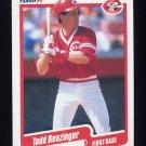 1990 Fleer Baseball #413 Todd Benzinger - Cincinnati Reds