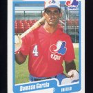 1990 Fleer Baseball #346 Damaso Garcia - Montreal Expos