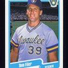 1990 Fleer Baseball #322 Tom Filer - Milwaukee Brewers