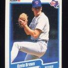 1990 Fleer Baseball #291 Kevin Brown - Texas Rangers ExMt