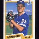 1990 Fleer Baseball #115 Jeff Montgomery - Kansas City Royals