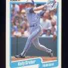 1990 Fleer Baseball #083 Kelly Gruber - Toronto Blue Jays Ex