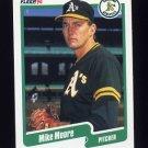 1990 Fleer Baseball #016 Mike Moore - Oakland A's