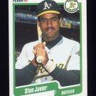 1990 Fleer Baseball #012 Stan Javier - Oakland A's