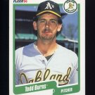 1990 Fleer Baseball #002 Todd Burns - Oakland A's
