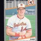 1989 Fleer Baseball #623 Mickey Tettleton - Baltimore Orioles
