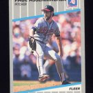 1989 Fleer Baseball #586 Paul Assenmacher - Atlanta Braves