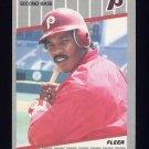 1989 Fleer Baseball #581 Juan Samuel - Philadelphia Phillies