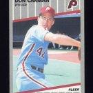 1989 Fleer Baseball #564 Don Carman - Philadelphia Phillies