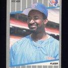 1989 Fleer Baseball #519 Cecilio Guante - Texas Rangers