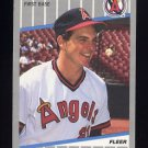 1989 Fleer Baseball #481 Wally Joyner - California Angels