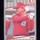 1989 Fleer Baseball #452 Bob Horner - St. Louis Cardinals