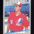1989 Fleer Baseball #375 Tom Foley - Montreal Expos