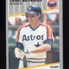 1989 Fleer Baseball #366 Craig Reynolds - Houston Astros