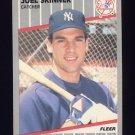 1989 Fleer Baseball #270 Joel Skinner - New York Yankees