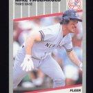 1989 Fleer Baseball #262 Mike Pagliarulo - New York Yankees