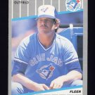 1989 Fleer Baseball #237 Rick Leach - Toronto Blue Jays