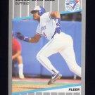 1989 Fleer Baseball #225 Jesse Barfield - Toronto Blue Jays