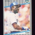 1989 Fleer Baseball #190 Jeffrey Leonard - Milwaukee Brewers