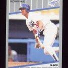 1989 Fleer Baseball #070 Steve Sax - Los Angeles Dodgers