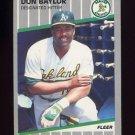 1989 Fleer Baseball #001 Don Baylor - Oakland A's