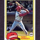 1981 Topps Baseball #353 Terry Kennedy - St. Louis Cardinals Ex