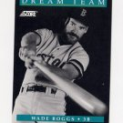 1991 Score Baseball #889 Wade Boggs DT - Boston Red Sox