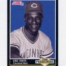 1991 Score Baseball #863 Eric Davis FRAN - Cincinnati Reds