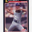 1991 Score Baseball #846 Kevin Brown - Texas Rangers