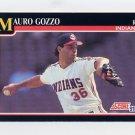 """1991 Score Baseball #843 Mauro """"Goose"""" Gozzo - Cleveland Indians"""