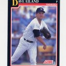 1991 Score Baseball #826 Dave Eiland - New York Yankees