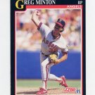 1991 Score Baseball #823 Greg Minton - California Angels