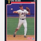 1991 Score Baseball #820 Tom Herr - New York Mets
