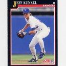 1991 Score Baseball #783 Jeff Kunkel - Texas Rangers