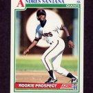 1991 Score Baseball #762 Andres Santana - San Francisco Giants
