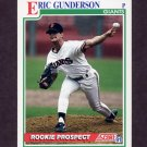 1991 Score Baseball #744 Eric Gunderson - San Francisco Giants